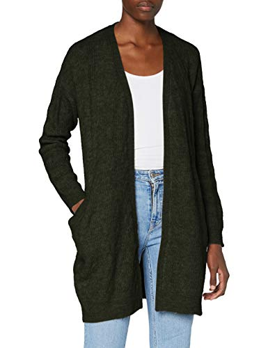 Pieces Women's PCBECKY LS Cable Knit Cardigan CP BC, Duffel Bag/Detail:CP, XS