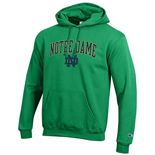 Elite Fan Shop Notre Dame Fighting Irish Hoodie Sweatshirt Arch Kelly Green - XXL