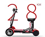 Compact Lightweight Commute Electric Scooter, Foldable, Adult, Dual Motor, Mini Electric Wheelchair Four Wheel Disabled Elderly Bicycle Outdoor Assisted Wheelchair [Upgrade]