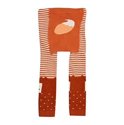 Collants pour bébés tout-petits, Meedot Coton Collants pour bébés Body-Stocking Ninth Leggings Orange Fox S/0-2 years