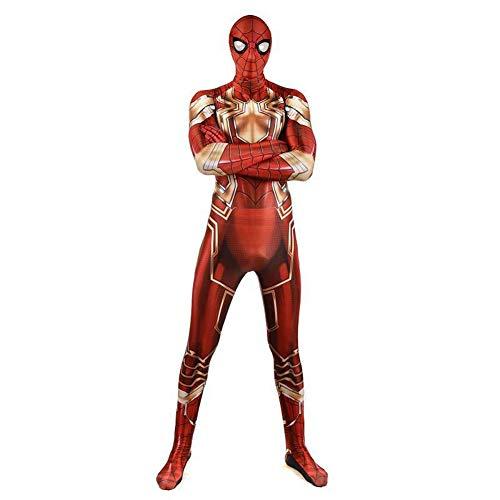 Klassiek ijzeren spider-man-kostuum terug naar de burgeroorlog, superheld Cosplay kind-films voor volwassenen opvolging podium beroep Lycra Overall SPIDERSYBB Adult-XXL(175-185) rood