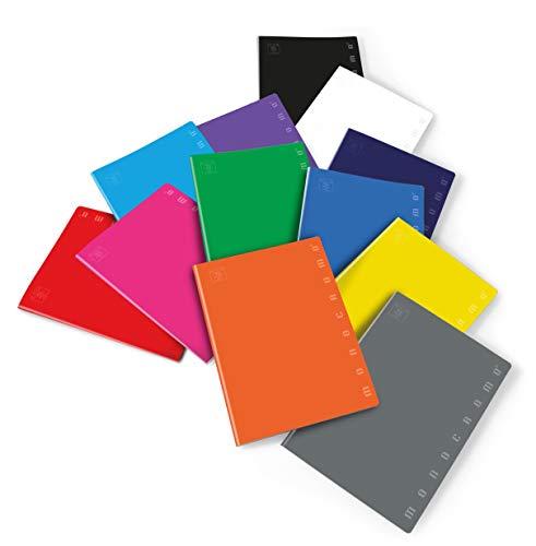 Rigatura 5M quadretti 5 mm per 2/° e 3/° elementare Quaderno formato A4 Pacco da 5 Pezzi Carta 80g//mq Pigna Monocromo Cartonato 00716785M