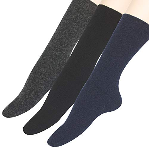 URGAÑA-Calcetin lana para mujer PACK 3 pares. Diseño liso