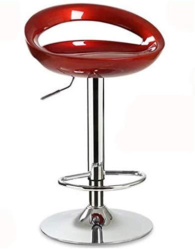 WSHFHDLC Taburete Silla de Bar Taburete Alto Mobile Phone Shop Stool Volver Taburete de la Barra Inicio telesilla Barra de Silla de la Barra (Color : Red, Size : B)