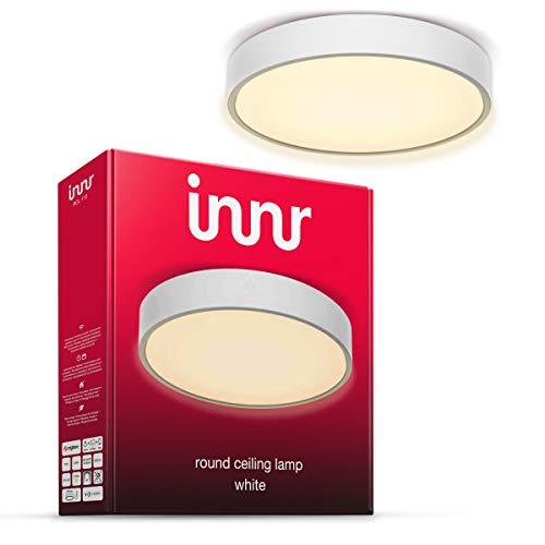Innr Smart LED Round Ceiling Light, Deckenleuchte, kompatibel mit Philips Hue* und Alexa (Bridge erforderlich) 30cm, warmweißes Licht, RCL 110