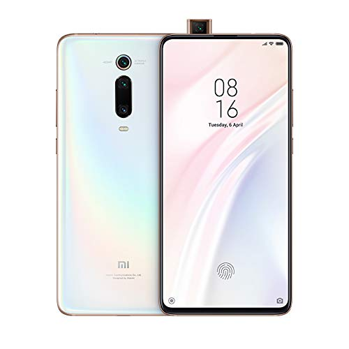 Xiaomi Mi 9T Pro Smartphone (16,23cm (6.39 Zoll) FHD+ AMOLED Bildschirm, 128GB interner Speicher + 6GB RAM, 48MP 3fach-KI-Rückkamera, 20MP Pop-up-Selfie-Frontkamera, Dual-SIM, Android 9.0) Pearl White