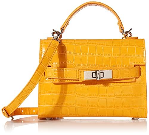 Steve Madden Steve Mdden DIGNIFY Croco Top Handle Bag, Mustard