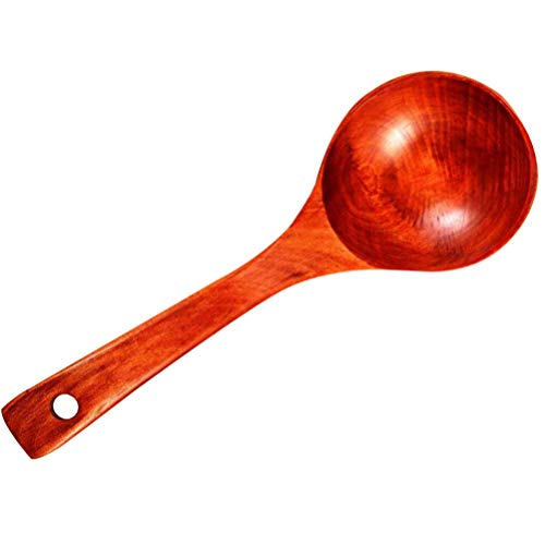 Cabilock Cuchara de Sopa de Madera Grande Cuchara para Cocinar Cuchara para Fideos de Sopa Caliente