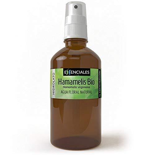 Essenciales - Agua Floral Hamamelis ECOLOGICA BIO, 100% Pura y Certificada, 100 ml | Agua de Hamamelis Virginiana