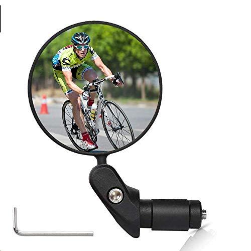 Sunshine smile Fahrradspiegel,360° Drehspiegel Rückspiegel Fahrrad und Bicycle Mirror,Safe Rearview Mirror,Rückspiegel Lenkerspiegel Konvexen Reflektor für Fahrrad Bike Mountainbikes (1 Stück)