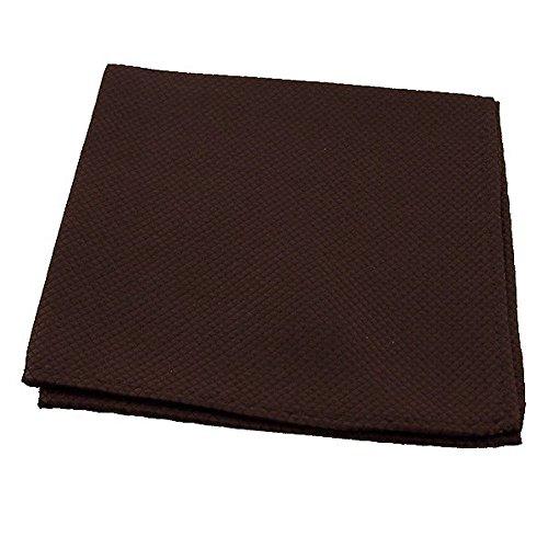 LABEL-CRAVATE Pochette, mouchoir de costume marron, finitions main