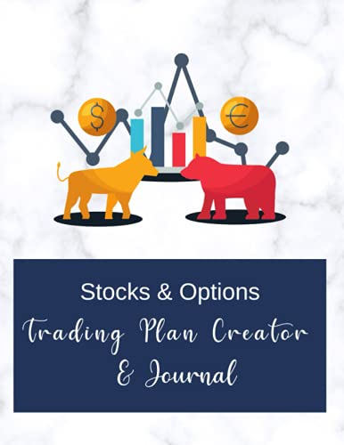 """41NktXE6m7L. SL500  - Stocks & Options Trading Plan Creator & Journal, Trader Journal for Stock Market, Stock Trading Notebook, Options Trading Log book, 8.5""""x11"""": Sheets ... Trades, Weekly/Monthly Review & Reflection"""