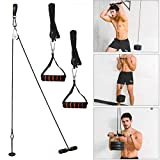 Forearm Wrist Roller Trainer, Arm Strength Blaster Exerciser, Body Building Strength Training Fitness Equipment with Heavy Duty Pulley System for LAT Pulldowns, Bicep Curls, Triceps Extensions