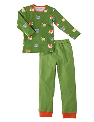 Bio Kinder Schlafanzug 2-teilig 100% Bio-Baumwolle (kbA) GOTS zertifiziert, Waldtiere, 86/92