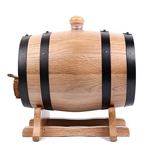 Ann-Portaghiaccio Botte di Rovere in Legno di Vino Botte di Rovere Vintage in Legno, Dispenser a Vino Botte Legno, per Lo stoccaggio o l'invecchiamento di Vino e liquori (Color : A, Size : 10L)