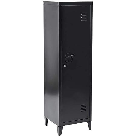 MEUBLE COSY CABINET rangement bureau, black /38 x 38 x 137cm