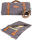 Zelancio Waxed Canvas Knife Roll Bag with 9 Knife Slots and 4 Additional