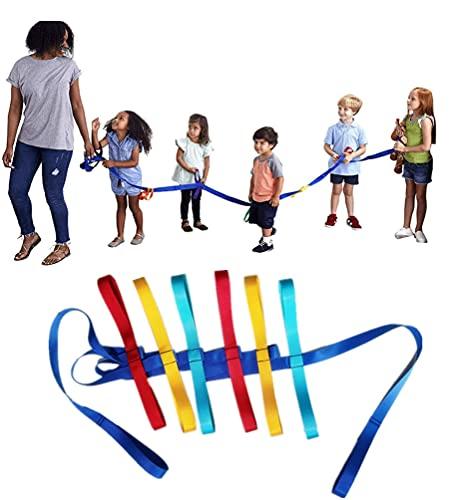KOURO ウォーキングロープ 幼児用 横断歩道 安全歩行ロープ 幼稚園 迷子防止紐 迷子リード 12人用 小学生 アウトドア お出かけグッズ 牽引ロープ