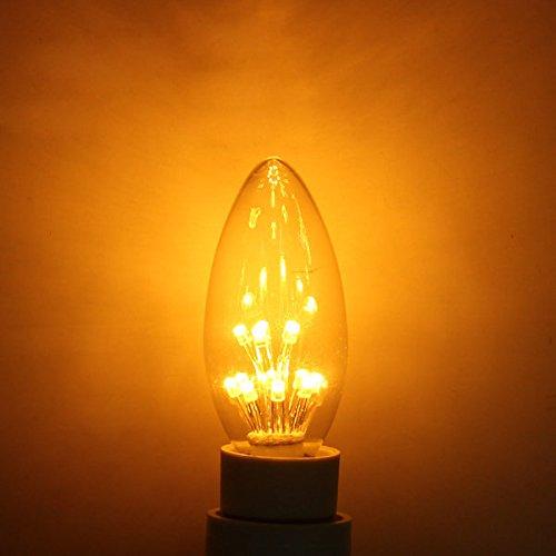 Bazaar E14 1W warm wit Retro Edison Energy Saving kaars gloeilamp 220V
