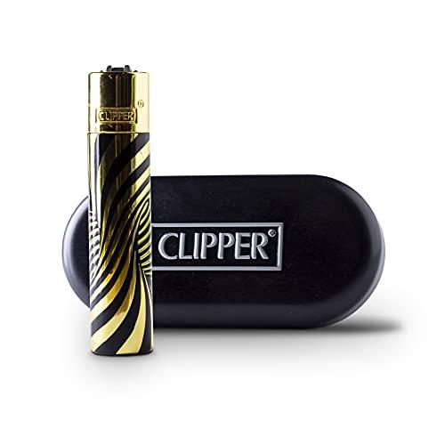 Clipper - Encendedor de Metal de Gas butano Recargable - Modelo Psychedellic Gold