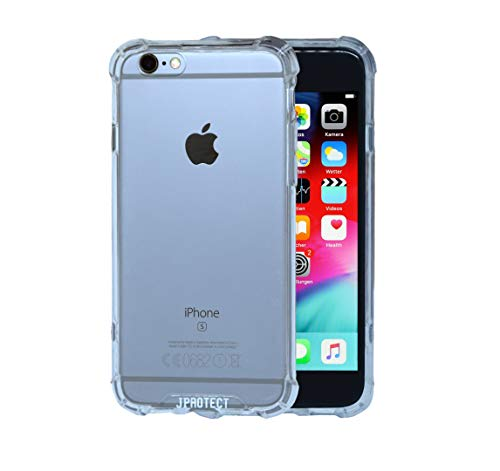 JProtect Hülle für iPhone 6 / 6s Shockproof Bumper | Transparentes Flexibles Stoßsicheres TPU Bumper | Perfekte Passform | case Cover Schutzhülle |