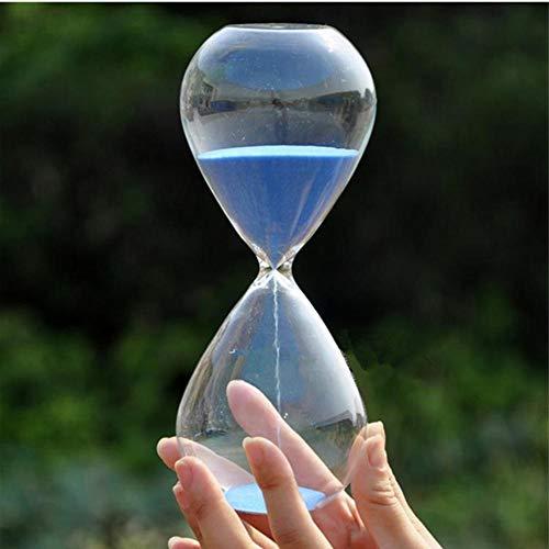 USNASLM 30 minutos de cristal transparente arena reloj de arena creativo reloj de arena temporizador cuenta atrás tiempo San Valentín regalos decoración del hogar