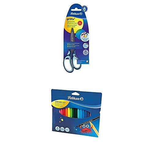 Pelikan griffix - Tijeras escolares + Kit escolar