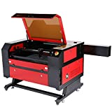 Orion Motor Tech 100W CO2 Laser Engraver Cutter 20 x 28in. Work Area Laser Engraving Machine with Ruida LCD Control RDWorks V8 Real-Time Data Power, USB Port, Auto Shutdown, Built-in Air Compressor