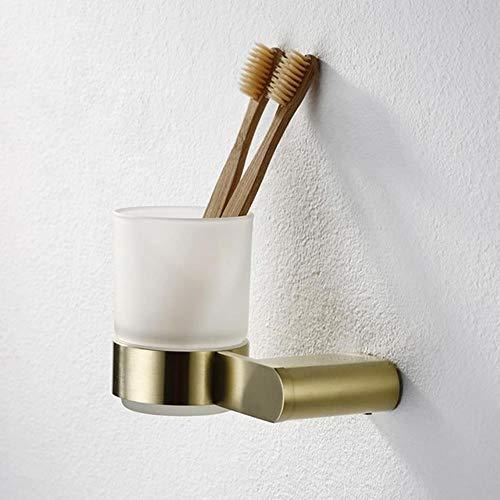 LCZMQRCLMZRQ Gouden badkamerhanger set wandmontage handdoekrek tandenborstelhouder badkamerrek badkamer hardware set toiletrolhouder rek, beker