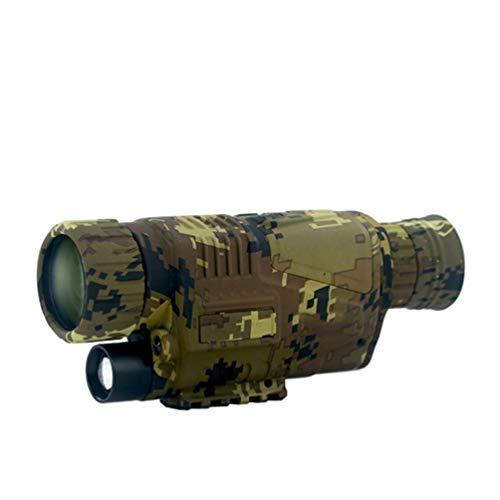 WNTHBJ 5X40 Digital Monokulare Nachtsichtgerät, Patrouillen Können Bilder Und Videonachtsichtfernrohr Nehmen, Golf Bewegliches Im Freien Teleskop