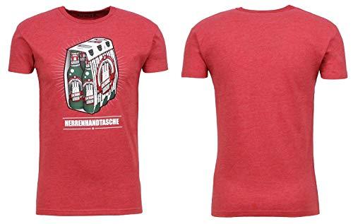 derbe Hamburg Herren T-Shirts, Größe:S, Hamburg :Herrenhandtasche - Red Melange