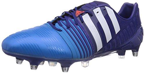 adidas Nitrocharge 1.0 SG Herren Fußballschuhe, Blau (Amazon Purple F14/Ftwr White/Solar Blue2 S14), 41 1/3