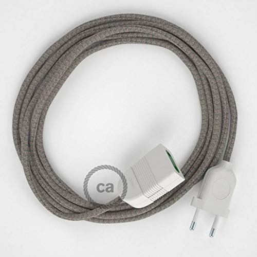 creative cables Alargador eléctrico con Cable Textil RD62 Algodón y Lino Natural...