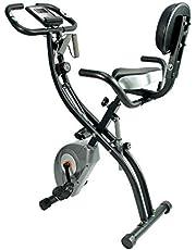 ATIVAFIT フィットネスバイク エアロバイク 折りたたみ式 静音 エクササイズバイク 心拍数計測 マグネット式 コンフォートバイク 8段階負荷調節