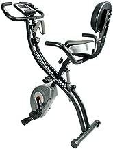 ATIVAFIT Stationary Exercise Bike Magnetic Upright Bike Monitor with Phone Holder, High Backrest, Adjustable Resistance Band for Arm & Leg