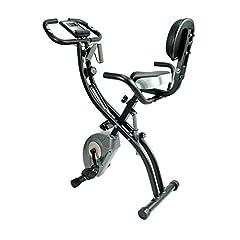 ATIVAFIT Fitness Bike 4in1 hometrainer met rugleuning & geïntegreerd touwsysteem - unieke trekkoordsysteem handpulssensoren Ergometer- Opvouwbaar fitnessfietstrainingsapparaat opvouwbaar*