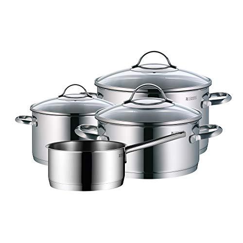 WMF Provence Plus - Batería de Cocina, Acero Inoxidable Cromargan, Tapas de Cristal, Apta para Todo Tipo de Cocinas, 5...