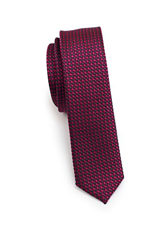 Blackbird Frische extra schmale Krawatte, 3 verschiedene Farben, 100% Seide, 4cm, Handarbeit (Pink)