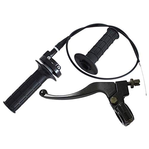 Throttle Handle,Brake Clutch Lever and Left Handle,Throttle Cable, for XR80 XR100 CRF70 CRF80 CRF100 Pit Dirt Motor Bike Baja Mini Bike 196cc 200cc 5.5hp 6.5hp 48 Inch Twist Throttle Hand,by LIYYOO