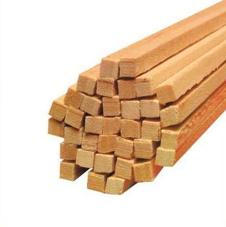Zuckerwattestäbe Holz Vierkantstäbe für Zuckerwatte Ø 4 mm Länge 30 cm (100)