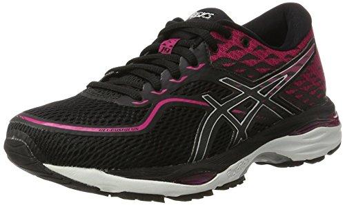 Asics T7B8N9093, Zapatillas de Running Mujer, Negro (Black/Silver/Pink Peacock), 37.5 EU
