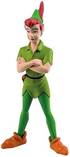 Bullyland 12650 - Spielfigur, Walt Disney Peter Pan, ca. 9,5 cm groß, liebevoll handbemalte Figur, PVC-frei, tolles Geschenk für Jungen und Mädchen zum fantasievollen Spielen