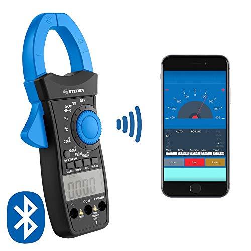 STEREN Multímetro de Gancho Profesional Bluetooth