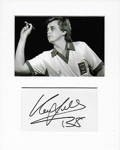 Darts - Keith Deller Genuine Authentic Hand Signed Autograph AFTAL COA
