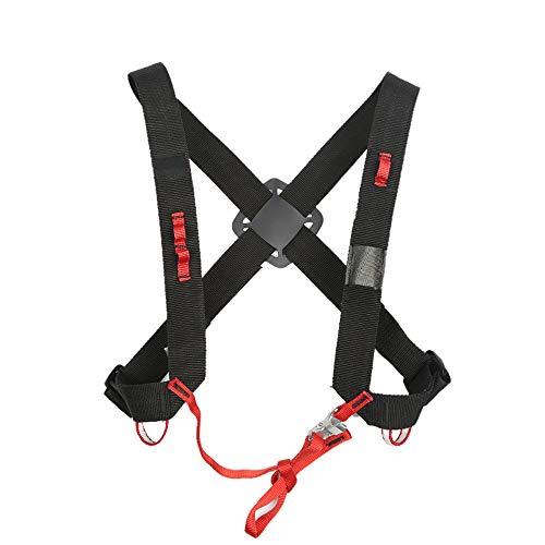 Oberkörper-Klettergurt Einstellbare Sicherheitsgurtgurte für die Brust Campinggürtel für aufsteigende Geräte Schultergurte Schutz vor dem Aufstiegsschutz