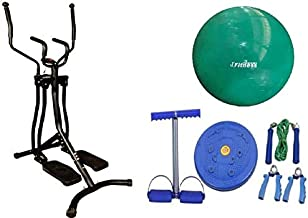 Air walker Strength Training Equipment,With Yoga ball World Fitness green 75 cm,With Fitness World Set of 4 in 1 exercises