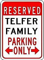 金属標識テルファー家族駐車場ノベルティ錫通り徴候