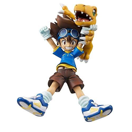 Siyushop Digimon Adventure: Figura De PVC De Taichi Yagami Y Agumon - Escultura Altamente Detallada - Alta 5.1 Pulgadas