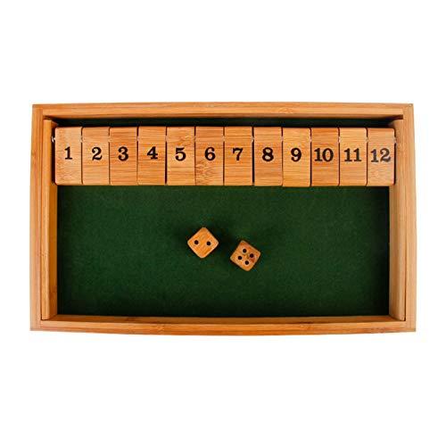 Ljourney Shut The Box Game Hölzerne Pädagogische Numeracy-Fähigkeit - Geschenk Für Familie Und Freunde (33 20 3,3 cm)