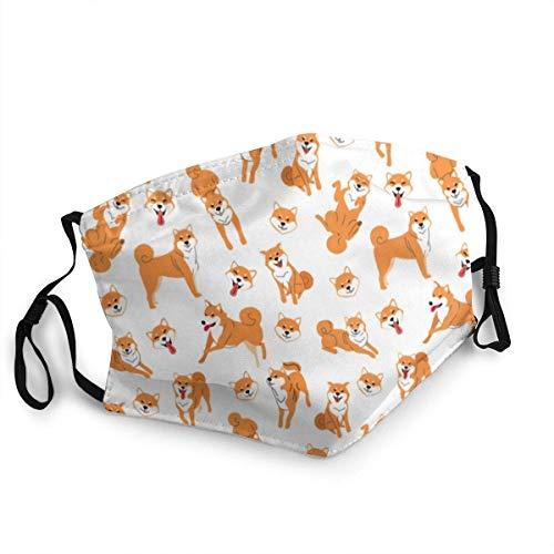 Shiba Inu Dog Posesdog Breed Action Mundschutz, Gesichtsschutz wiederverwendbar waschbar, Schutztuch waschbar